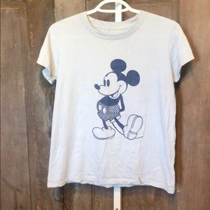 Mickey Mouse tee slightly cropped